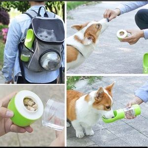 Dog/Pet Water bottle with feeder snacks